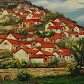 Mountain Village by Min Wang