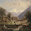Mountain Village With Alpine Panorama by MotionAge Designs