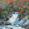 Mountain Waterfall by Gloria Smith