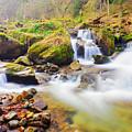 Mountain Waterfall by Mihail Sidov
