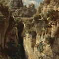 Mountainous Landscape With Waterfall by Johann Gottfried Steffan