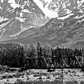 Mountains Alaska Bw by Chuck Kuhn