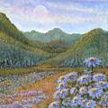 Mountains And Asters by Holly Carmichael