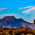 Mountains And Cactus by Paul LeSage