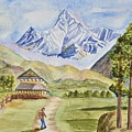 Mountains And Valley by Linda Brody