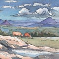 Mountains From Maleny by Robynne Hardison