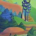 Hills In Spring by Barbel Smith