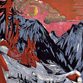 Mountains In Winter by Ernst Ludwig Kirchner