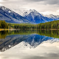 Mountains Reflected In The Lake by Csaba Demzse