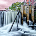Mousam River Waterfall In Kennebunk Maine by Bill Cannon