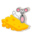 Mouse And Cheese Illustration by Dragana  Gajic