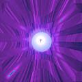 Moveonart Abstract Cross In Purple by Jacob Kanduch