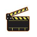 Movie Camera Slate Clapper Board Open Retro by Aloysius Patrimonio