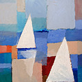 Abstract Sailboats by Lutz Baar