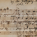 Mozart: Motet Manuscript by Granger