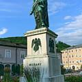 Mozart Statue In Mozartplatz, Salzburg, Austria by Elenarts - Elena Duvernay photo