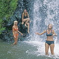 Mp-457 Fun At Honopu Falls Hi by Ed Cooper Photography