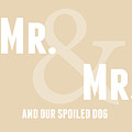Mr And Mr And Dog- Sand by Linda Woods