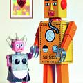 Mr And Mrs Robot's Anniversary by Toula Mavridou-Messer