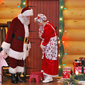 Mr And Mrs S Claus by Teresa Blanton
