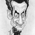 Mr Nicolas Sarkozi Caricatur Portrait by Alban Dizdari