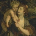 Mrs Hartley As A Nymph With A Young Bacchus by Sir Joshua Reynolds