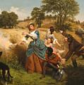 Mrs Schuyler Burning Her Wheat Fields by Emanuel Leutze