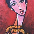 Ms. Bimba Fashionable Seamstress by Laurie Maves ART