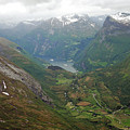 Mt. Dalsnibba And The Serpentine Descent To The Geirangerfjord by Harvey Barrison