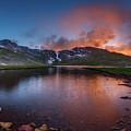 Mt. Evans Summit Lake Twilight by Chris Bordeleau