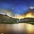Mt. Evens Summit Lake Sunset by Chris Bordeleau
