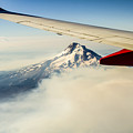 Mt Hood Aerial View by John Trax