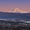 Mt. Hood From Camas by John Christopher