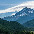 Mt Hood With Lenticular Cloud 2 by John Trax