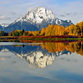 Mt Moran From Ox Bow Bend On A Fall Morning by Gary Langley