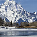 Mt Moran From Oxbow Bend by Belinda Greb