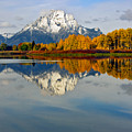 Mt Moran From The Ox Bow by Gary Langley