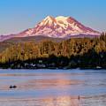 Mt Rainier At Sunset by Bill Dodsworth