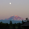 Mt Rainier August Moon by Shirley Heyn