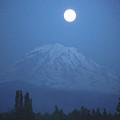 Mt Rainier Full Moon by Shirley Heyn