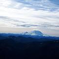 Mt Rainier Under Clouds by Kenneth Willis