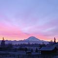 Mt Rainier Winter Sunrise-1 by Shirley Heyn