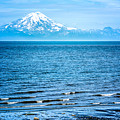 Mt. Redoubt Cooke Inlet by Claudia Abbott