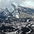 Mt Rundle Aerial View by Adam Jewell