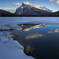 Mt. Rundle Winter Reflection by Royce Howland