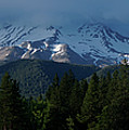 Mt Shasta Under Clouds - Panorama by Mick Anderson