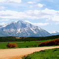 Mt. Sopris II - A Colorado Landscape by Christine S Zipps