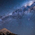 Mt Taranaki Galactic Core by Leith Robertson