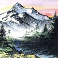 Mt Thielson Oregon by Donald Aday