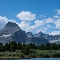Mt Wilbur In Glacier National Park by Mick Anderson